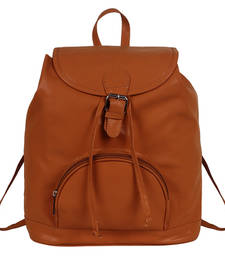 Buy Tan pu kerry backpack backpack online