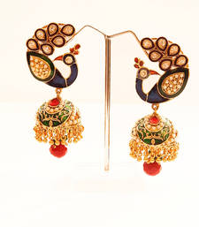 Buy Peacock Motif Jhumka Earrings jhumka online