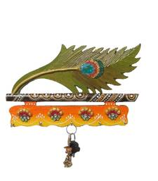Buy eCraftIndia Papier-Mache Mor Pankhi Key Holder other-home-accessory online