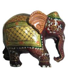 Buy eCraftIndia Golden Painted Elephant Statue  other-home-furnishing online