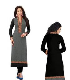 Buy black Colored Cotton Printed Kurti. cotton-kurti online