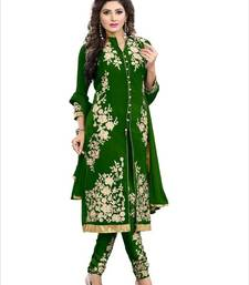 Buy Green georgette embroidered semi stitiched salwar with dupatta pakistani-salwar-kameez online