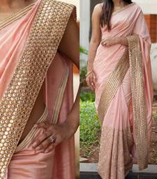 Buy Bikaw Embroidered Pink Georgette Traditional Party Wear Saree. - KT-3066 bollywood-saree online