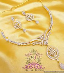 Buy Gorgeous Diamond Look Necklace Set  Necklace online