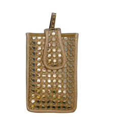 Aabla mirror mobile cover gold shop online