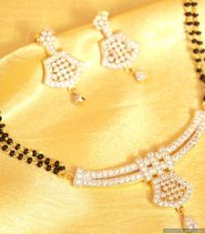 Elegant diamond look mangalsutra shop online
