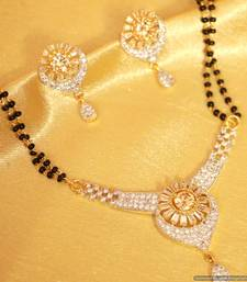 Buy Fine solitaire look american diamond mangalsutra mangalsutra online