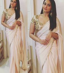 Buy light pink embroidered georgette saree with blouse sonakshi-sinha-saree online
