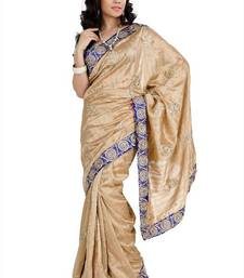 Buy Beige bhagalpuri silk with unstitched blouse (amr1341) bhagalpuri-silk-saree online