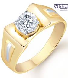 Buy Sukkhi Gold and Rhodium Plated Solitaire CZ Ring for Men(126GRK530) gifts-for-him online