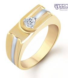 Buy Sukkhi Gold and Rhodium Plated Solitaire CZ Ring for Men(131GRK590) gifts-for-him online