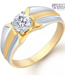 Buy Sukkhi Gold and Rhodium Plated Solitaire CZ Ring for Men(132GRK530) gifts-for-him online