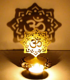 Buy Exclusive shadow diya tealight candle holder of removable om diwali-home-decor online