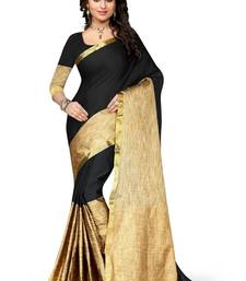Buy Black woven art silk sarees saree with blouse art-silk-saree online