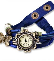 Buy blue Designeer Leather Watch Watch gifts-for-sister online