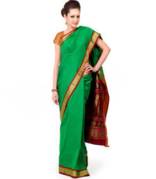 Buy Hand Loom Weaved Poly Silk Saree art-silk-saree online