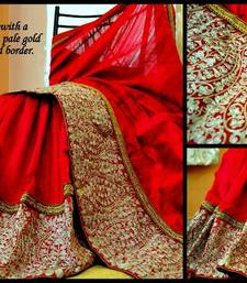 Buy Ravishing Red & Gold for the Bride silk-saree online