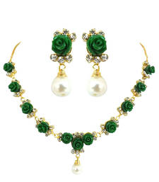 Buy Green Rose Coral Set necklace-set online