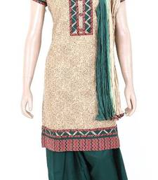 Buy Ethnic designer embroidered cotton salwar kameez size M 902112 salwars-and-churidar online