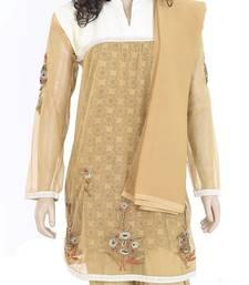 Buy Ethnic Designer Embroidered Cotton Net Salwar Kameez Dress Size L 900837 salwars-and-churidar online