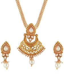Buy Multicolor gold plated necklace sets necklace-set online