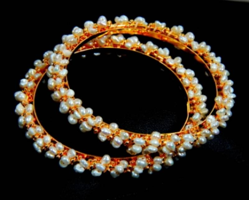 Buy Real Pearls Seed Pearls Bangles From Hyderabad Online