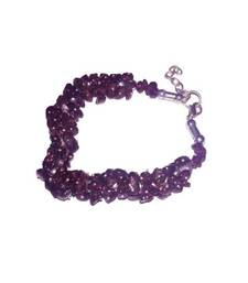 Buy Garnet uncut stone chip bracelet crown chakra healing crystal gemstone other-gemstone online