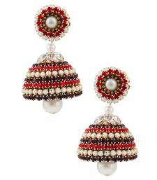 Buy Pearl Design Handcrafted Artificial Artifcial Diamond Chain Jhumka jhumka online