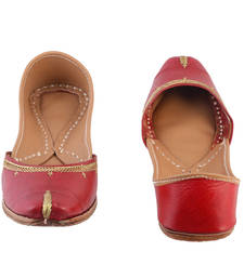 Buy Red and Gold Leather women footwear footwear online