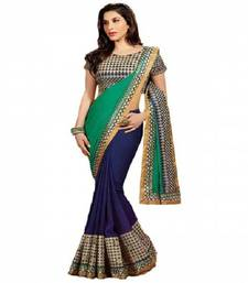 Buy Green Blie party-wear-saree online