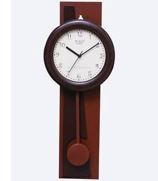 Buy Wooden look plastic wall clock new-year-gift online