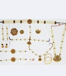 Buy Classical Dance Jewellery Set - Kemp Moti necklace-set online