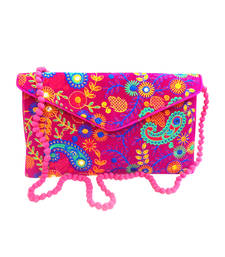Buy Pink Velvet clutches clutch online