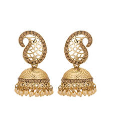 Buy gold plated stunning hand crafted Earring jhumka online