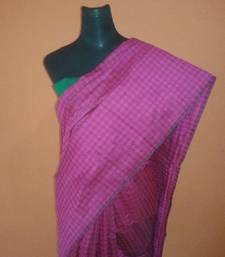 Buy pink embossed saree cotton-saree online