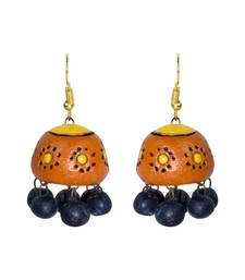 Buy Handmade Terracotta Jhumka Earring terracotta-jewelry online