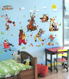 Buy Kids - Singing Cartoons' Wall Sticker (60 cm X 90 cm) wall-decal online