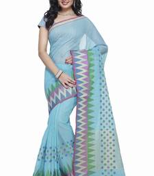 Buy Blue Cotton Handloom Traditional Saree kota-silk-saree online