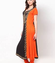 Buy  kukn086 Knit Viscose Orange Kurti kurtas-and-kurti online