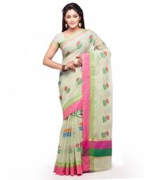 Buy Green embroidered kota silk saree with blouse kota-silk-saree online