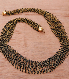 Buy Black and Gold Multistrand Necklace Long necklace-set online