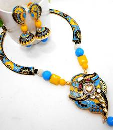 Buy Meenakari Ethnic Pipe Necklace  5 Necklace online