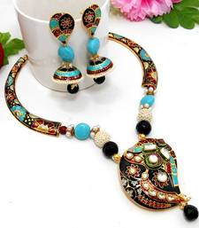 Buy Meenakari Ethnic Pipe Necklace  7 Necklace online