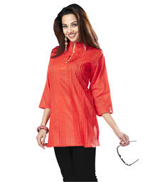 Buy Hypnotexorange Cotton Kurti Chori4C kurtas-and-kurti online