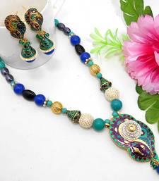 Buy Meenakari Ethnic Neck Ear Set 40 Necklace online