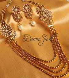 Buy GORGEOUS MULTI LAYER PEACOCK PEARL NECKLACE SET necklace-set online