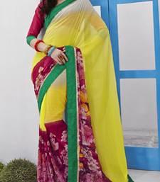 Buy Georgette Flower Print Saree VIP-10246 velvet-saree online