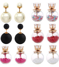 Buy Multicolor pearl earrings combo-earring online