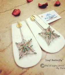 Buy Leaf Butterfly Earing danglers-drop online
