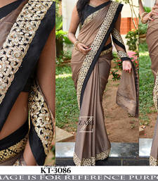 Buy Multicolor embroidered georgette saree with blouse south-indian-saree online